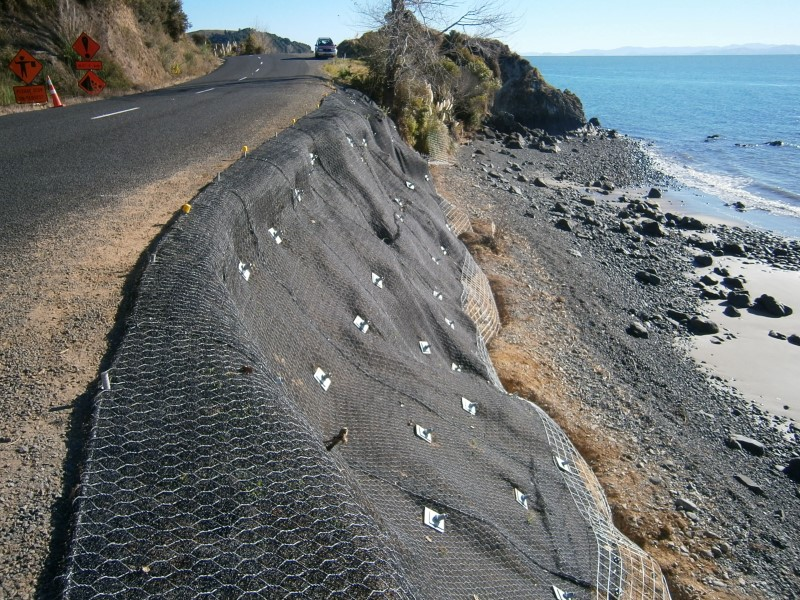Rockfall Matting With Rock Bolts
