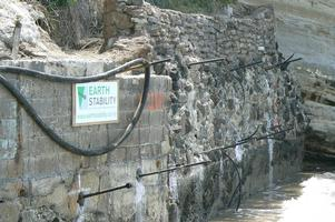 Anchors Installed Through Existing Seawall For Repair