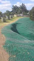 Completed Erosion Matting And Rockfall Mesh System With Anchors