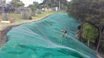 Installation Of Anchored Erosion Matting & Rockfall Mesh Sytem