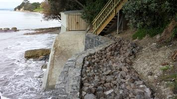 New Seawall And Boat Ramp