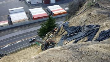 Drilling Of Horizontal Drains Above State Highway
