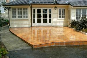 Reinforced Concrete Patio With Tiling