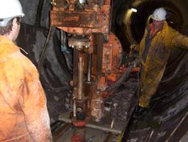 Drilling And Installation Of Earth Pillars In Tunnel Floor