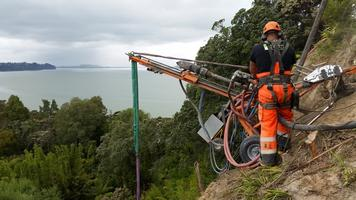 Rope Access Drilling Of Soilnails